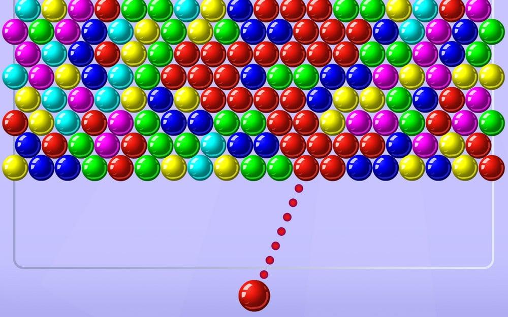 Bubble Shooter 2 tyhjentää värikuplat pelikentästä